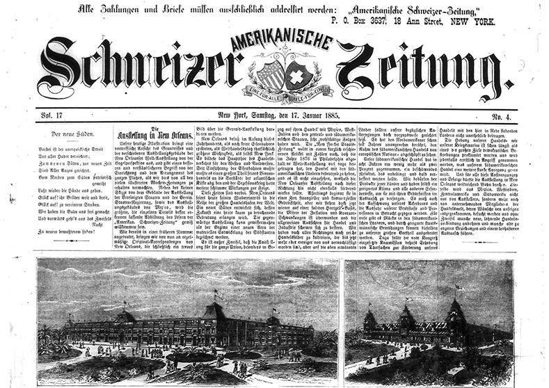 Amerikanische Schweizer Zeitung