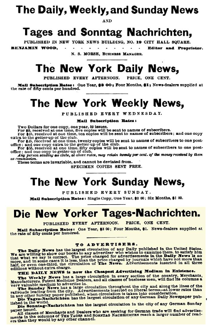 Die New Yorker Tages-Nachrichten