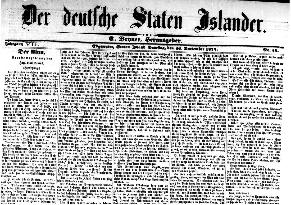 Der Deutsche Staten Islander