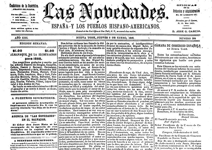 Las Novedades: España y los Pueblos Hispano-Americanos